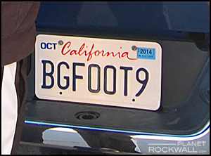 Bigfoot license plate