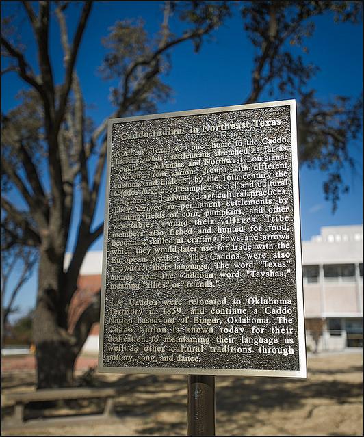 Caddo Indians plaque