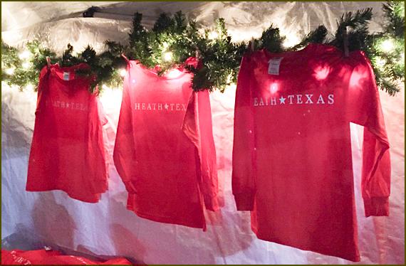 Heath TX Christmas shirts