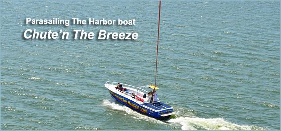 Parasailing the Harbor boat