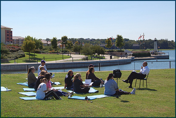 Meditation by the Lake - The Harbor in Rockwall
