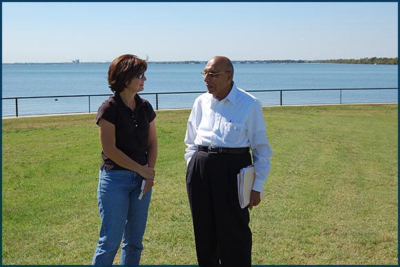 Sharon Lewis with Dr. Prakash