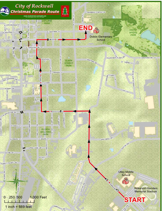 rockwall parade route