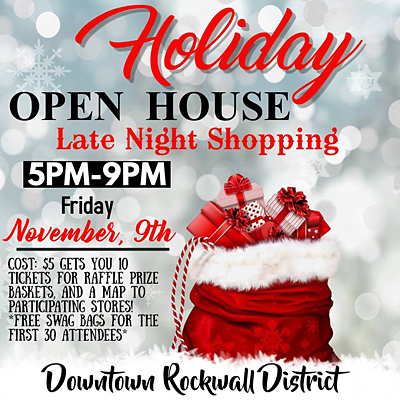 Holiday Open House | Downtown Rockwall @ Downtown Rockwall