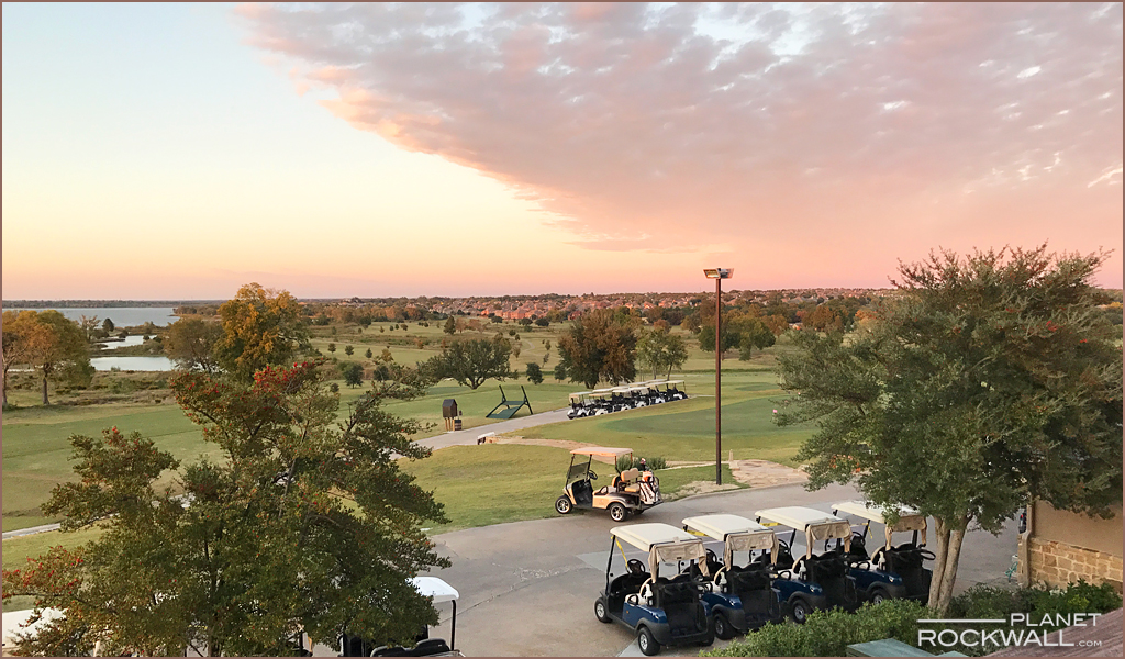 Rockwall Sunset at The Shores Golf Course