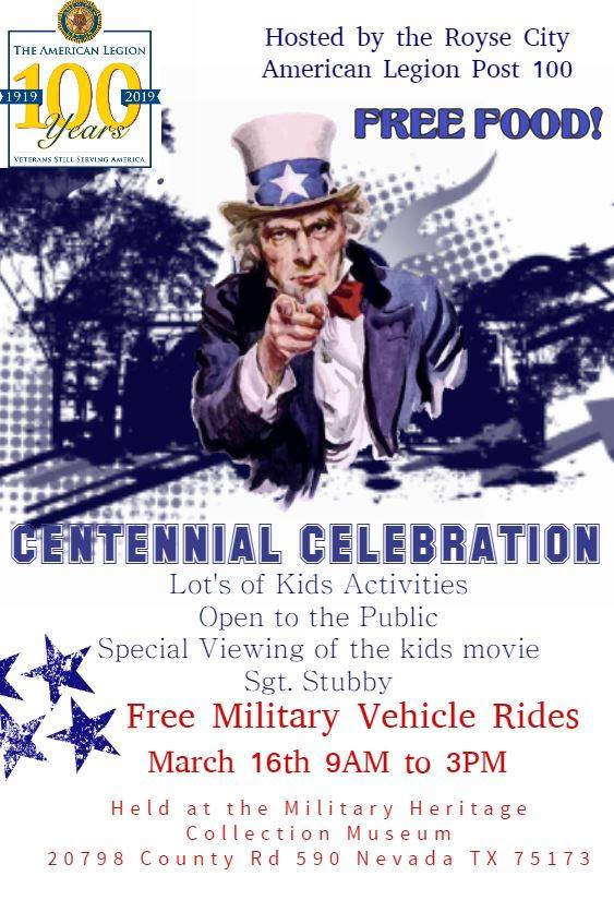 Centennial Celebration at Military Museum @ Military Heritage Collection of North Texas   Nevada   Texas   United States