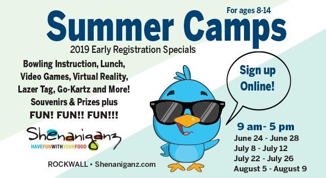 Summer Camps at Shenaniganz | Rockwall @ Shenaniganz Rockwall | Rockwall | Texas | United States