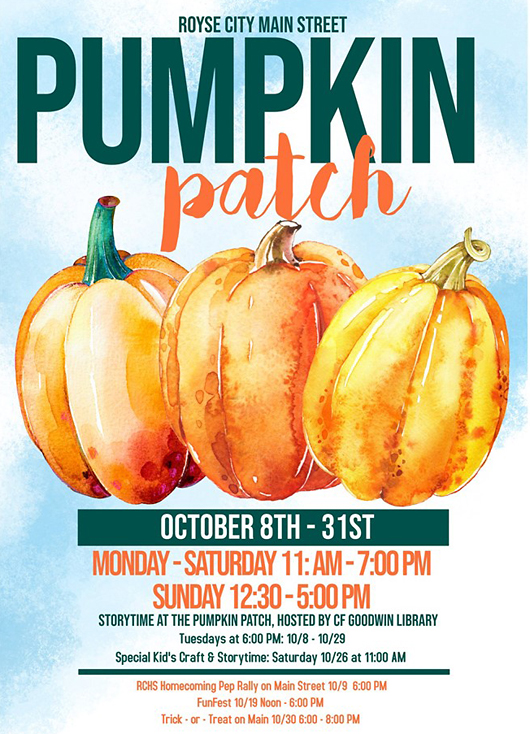 Royse City Pumpkin Patch 2019