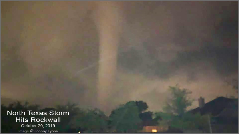 Oct 2019 Rockwall Storm Texas