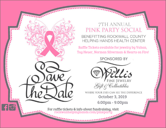 Pink Party | Fundraiser for Helping Hands @ Willis Fine Jewelry | Rockwall | Texas | United States