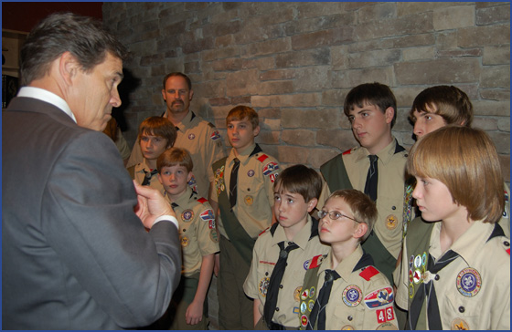 Rick Perry and Troop 48