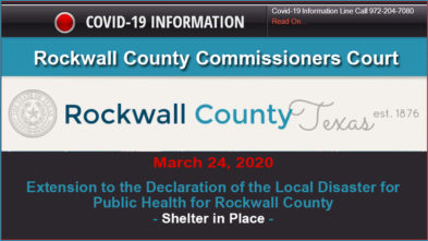 Rockwall county covid19 shelter in place