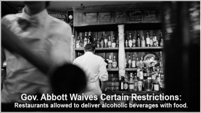 Texas waives alcohol restrictions for food delivery