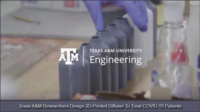 Texas AM COVID 19 3D Diffuser