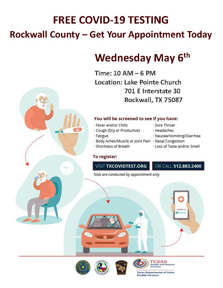 Free COVID-19 Testing @ Lake Pointe Church | Rockwall | Texas | United States