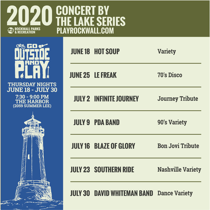 Rockwall Concert by the Lake Schedule