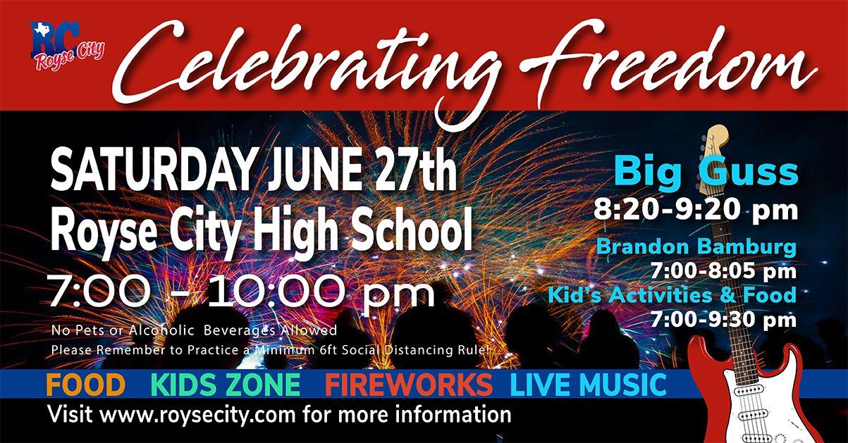 Royse City Celebrates Freedom Fireworks