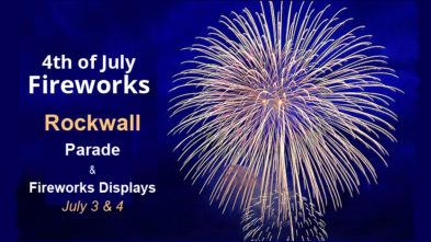 Rockwall fireworks parade 2020